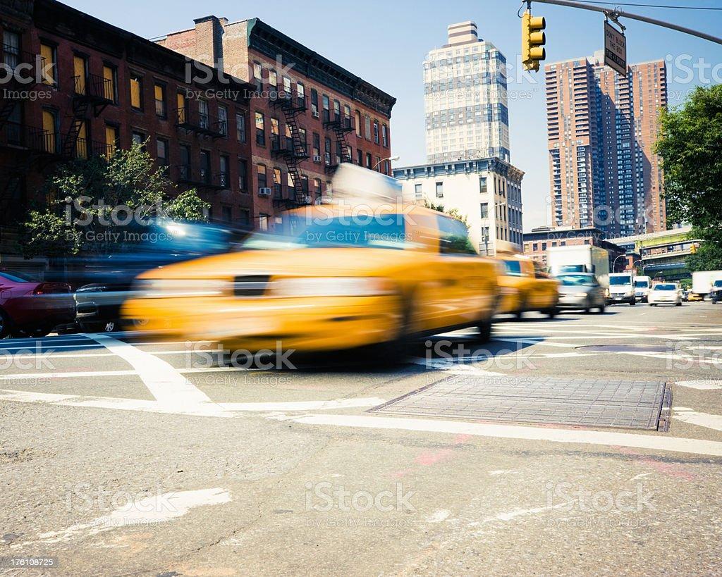 Urban Street Scene Traffic NYC royalty-free stock photo