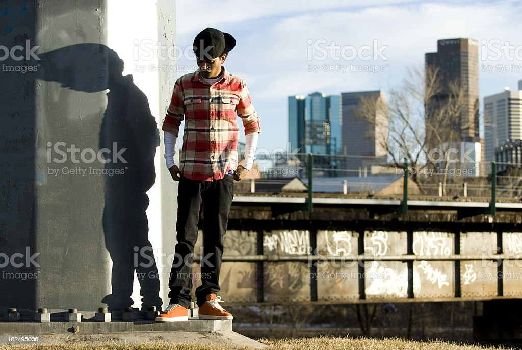 Urban Student royalty-free stock photo