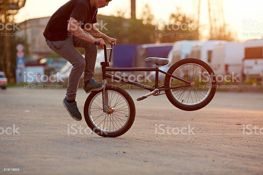 Urban stunt stock photo