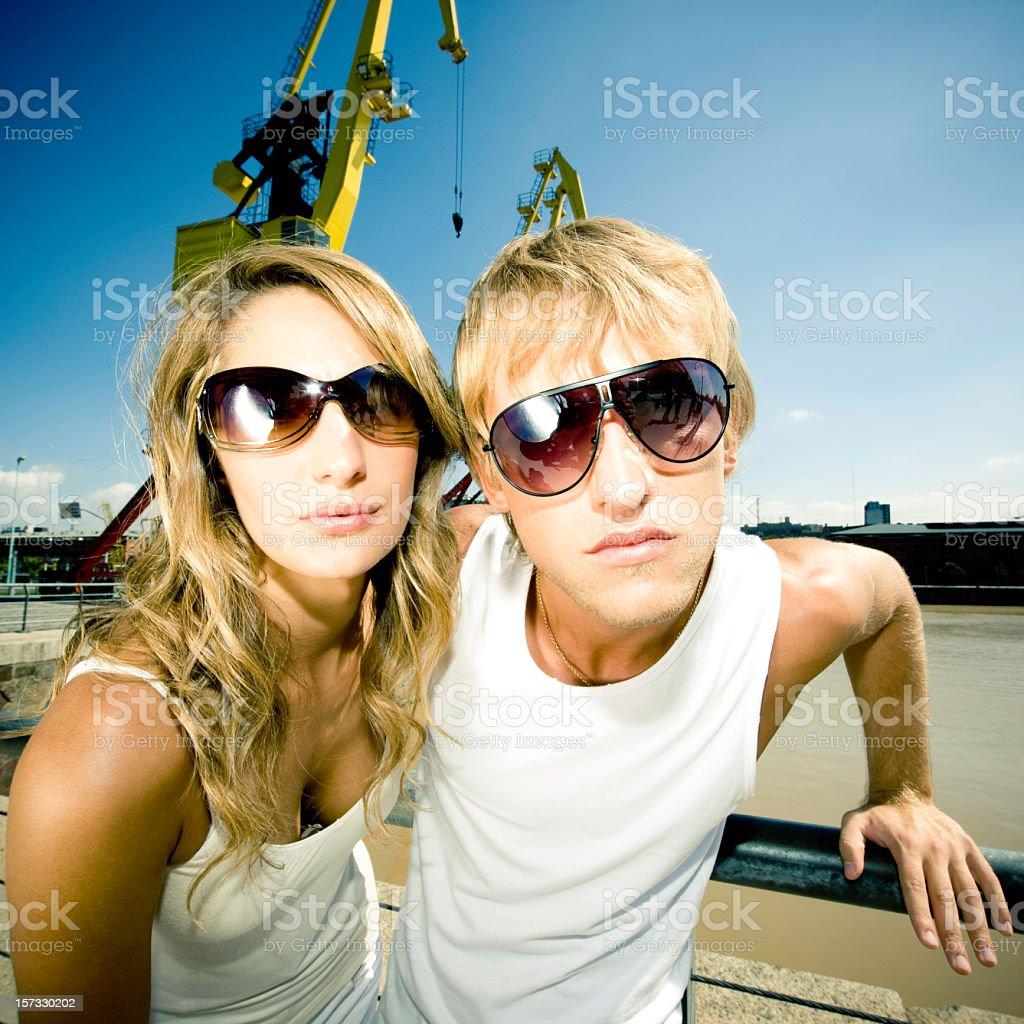 Urban Style Couple royalty-free stock photo