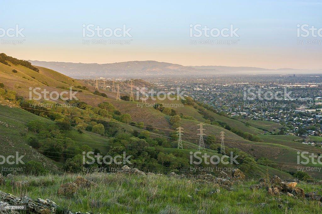 Urban sunrise stock photo