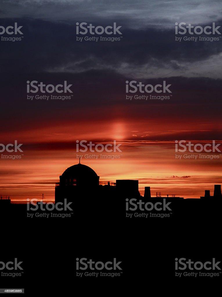 urban pôr do sol foto de stock royalty-free