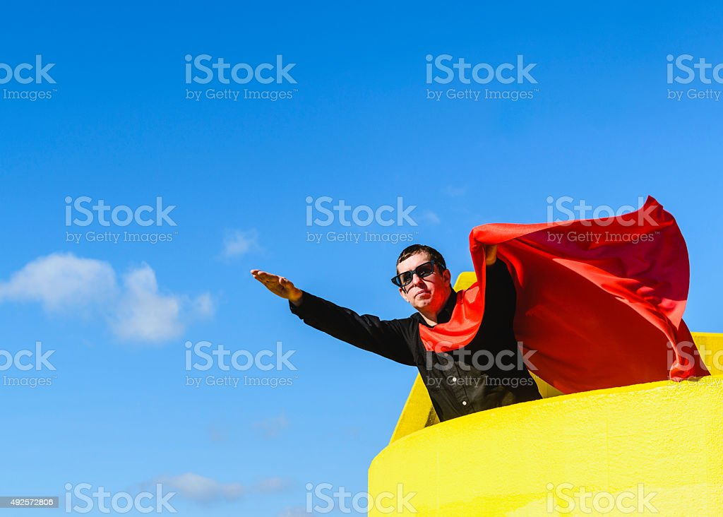 Urban Superhero stock photo