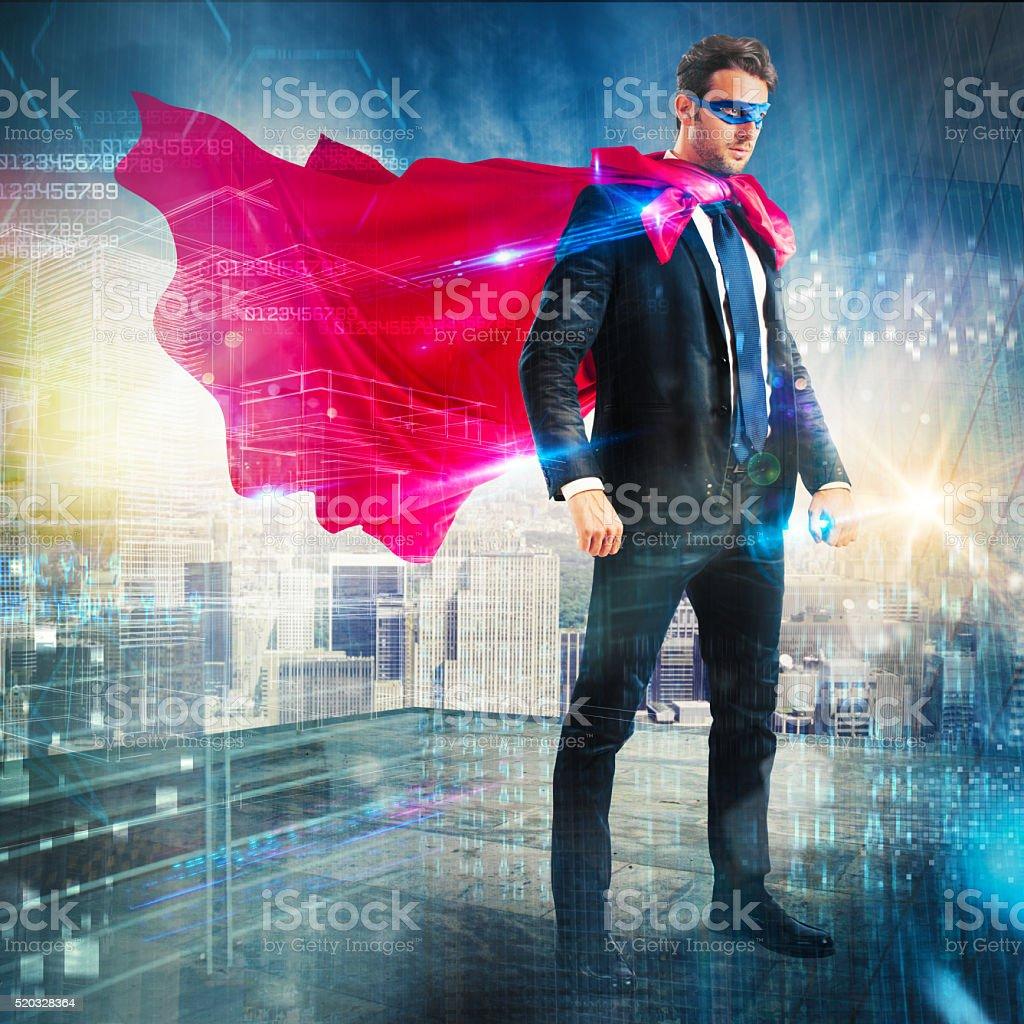 Urban superhero stock photo
