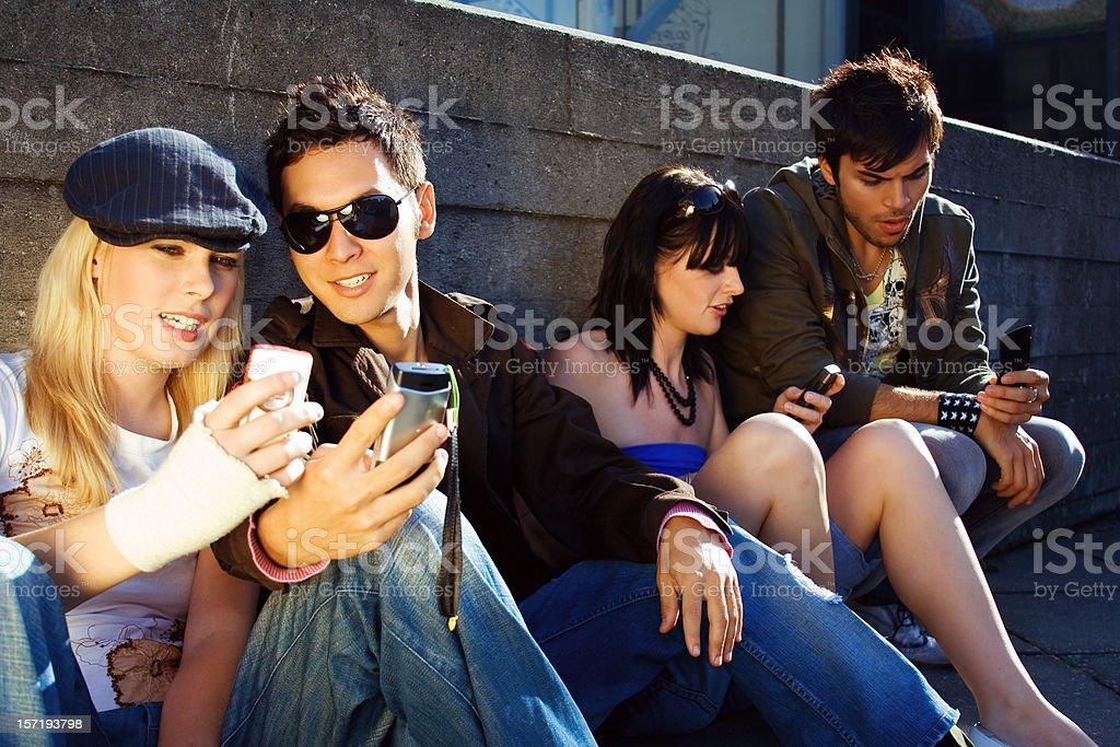 Urban teenagers royalty-free stock photo