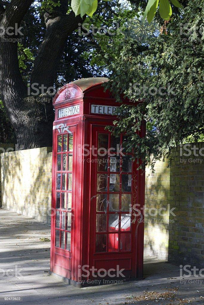 Urban Telephone Box stock photo