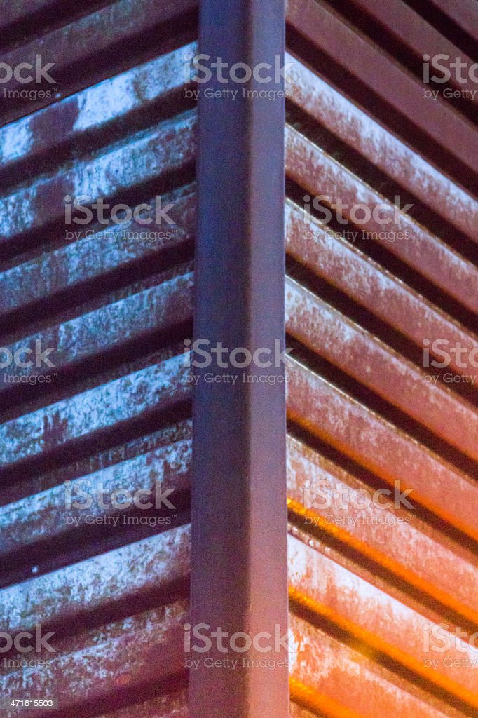 Urban Textures: Rusted Steel royalty-free stock photo