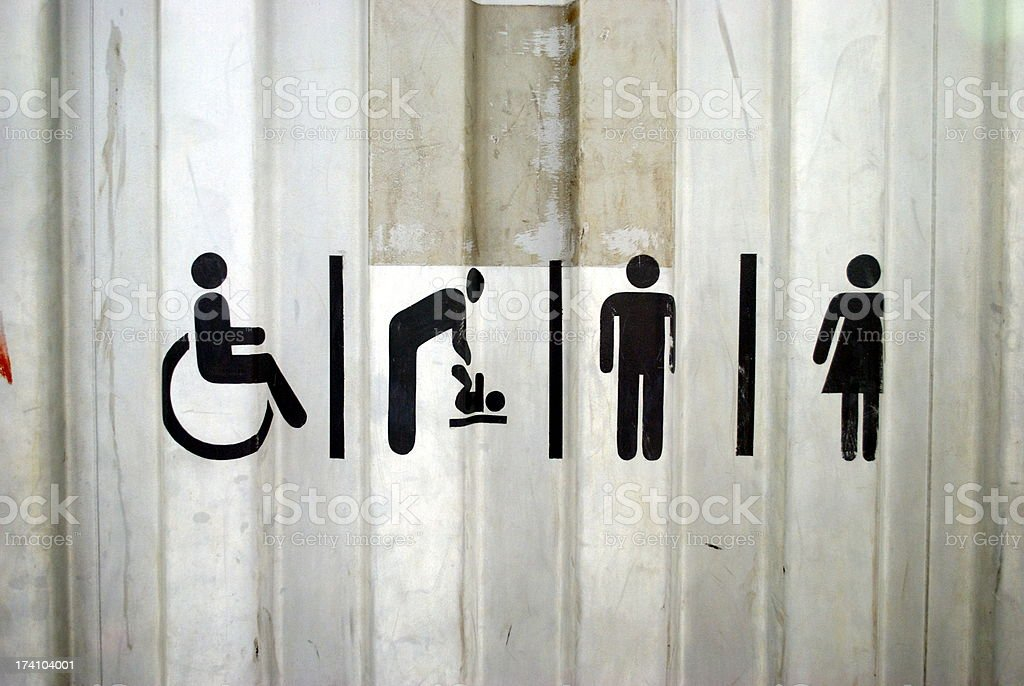 Urban Toilet Sign royalty-free stock photo