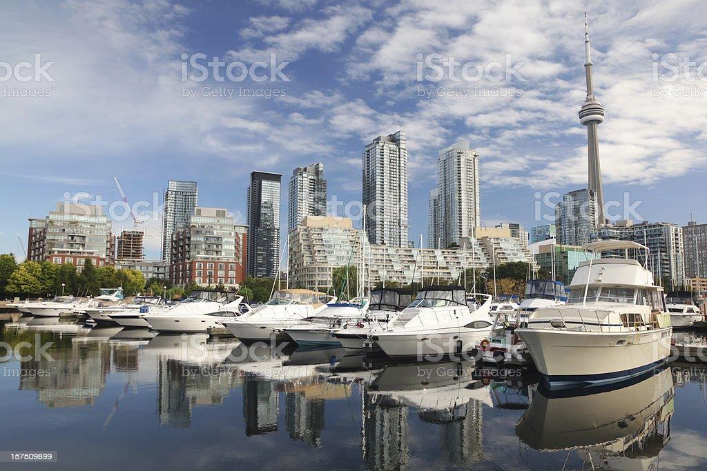 Urban Toronto City Marina stock photo