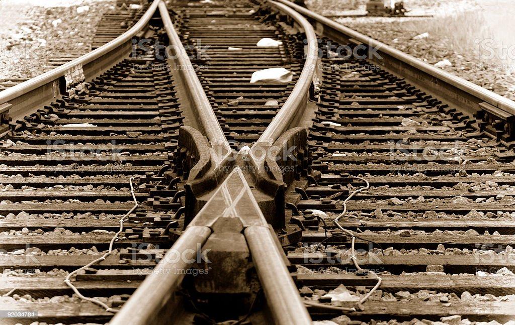 Urban Track Switch stock photo