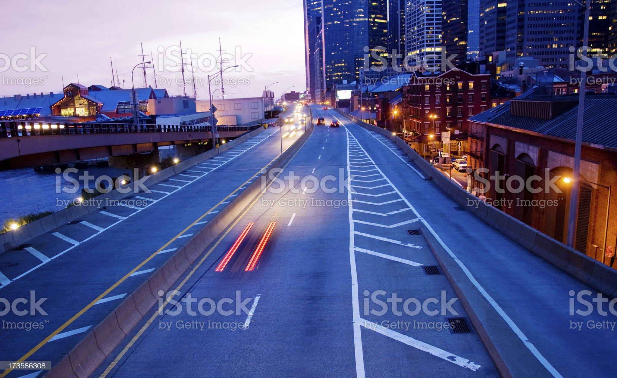 Urban Traffic in NYC royalty-free stock photo