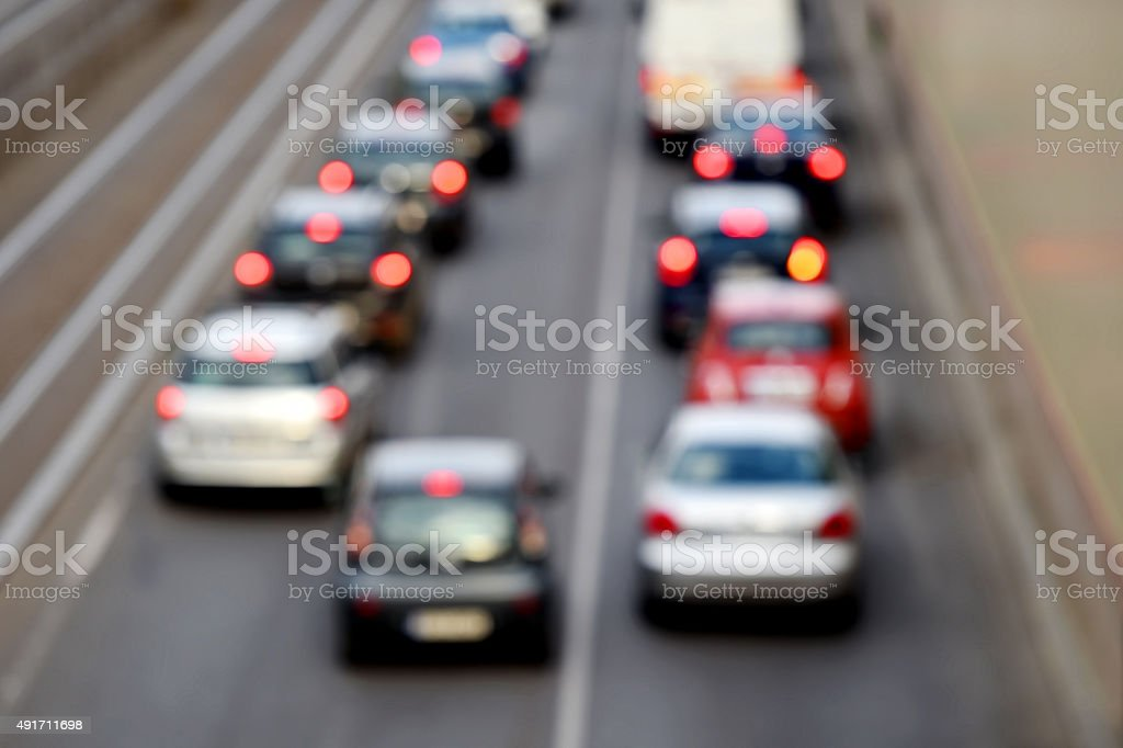 Urban traffic jam stock photo