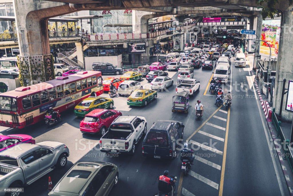Urban traffic stock photo