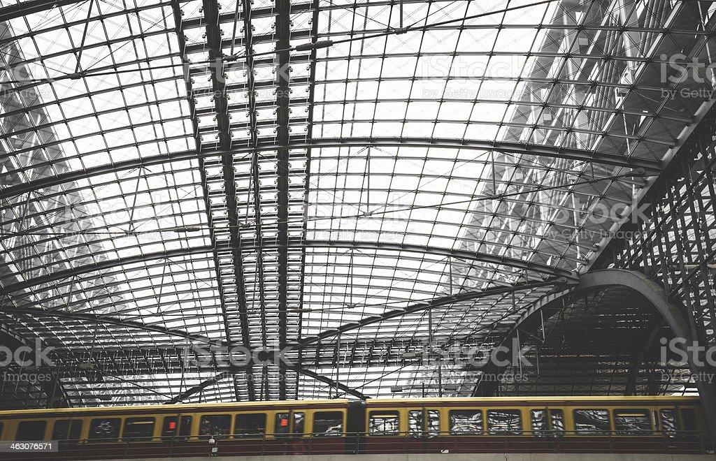 Urban train in a futuristic station - berlin royalty-free stock photo