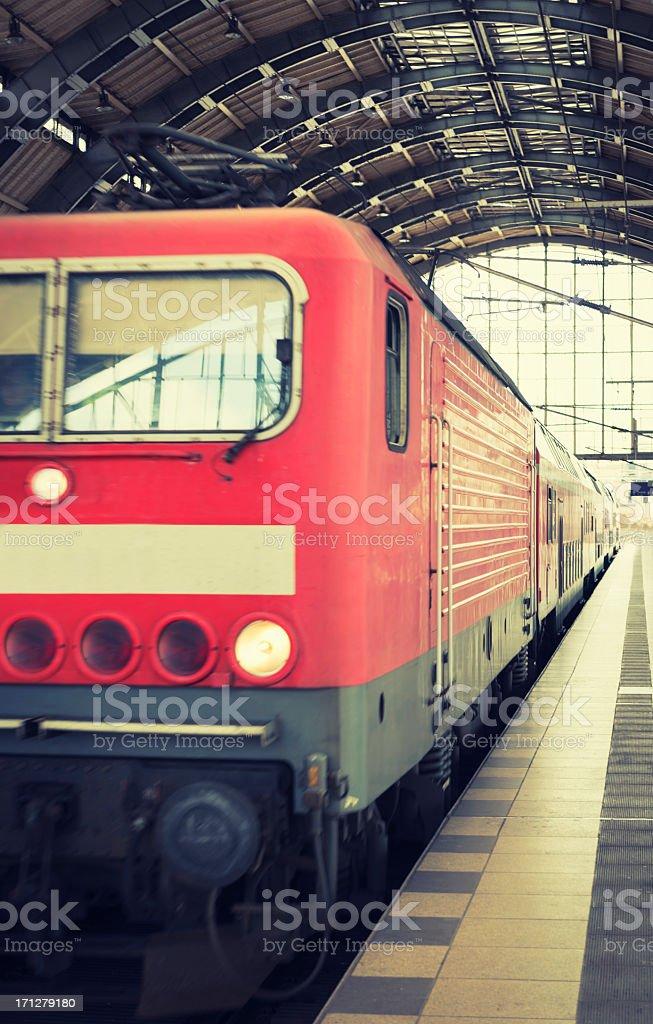 Urban train underground in Berlin royalty-free stock photo