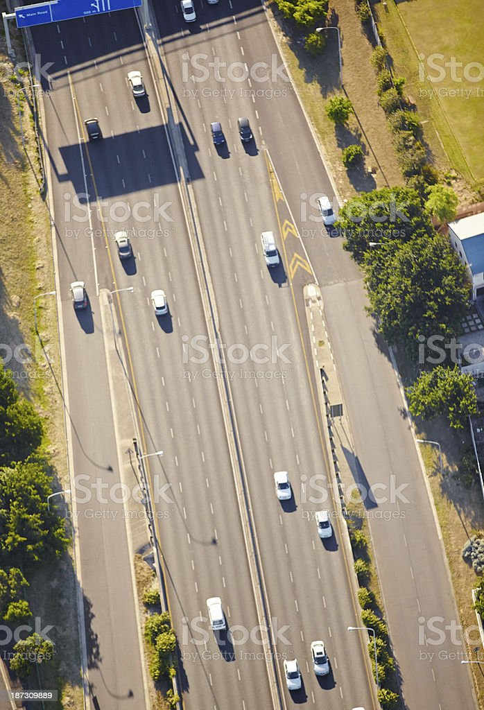 Urban transport arteries royalty-free stock photo