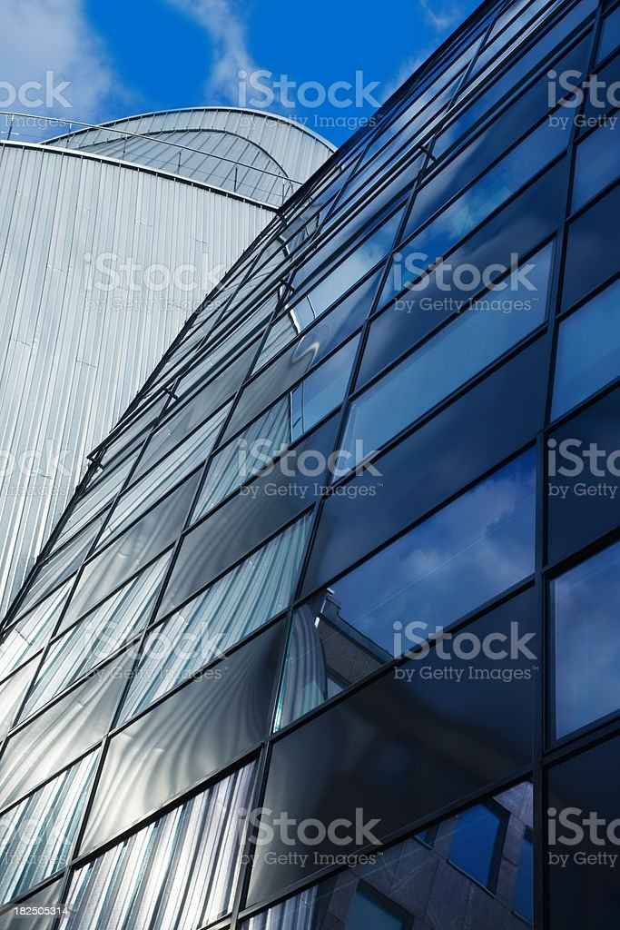 Urban View at Modern Buildings, Frankfurt, Germany royalty-free stock photo
