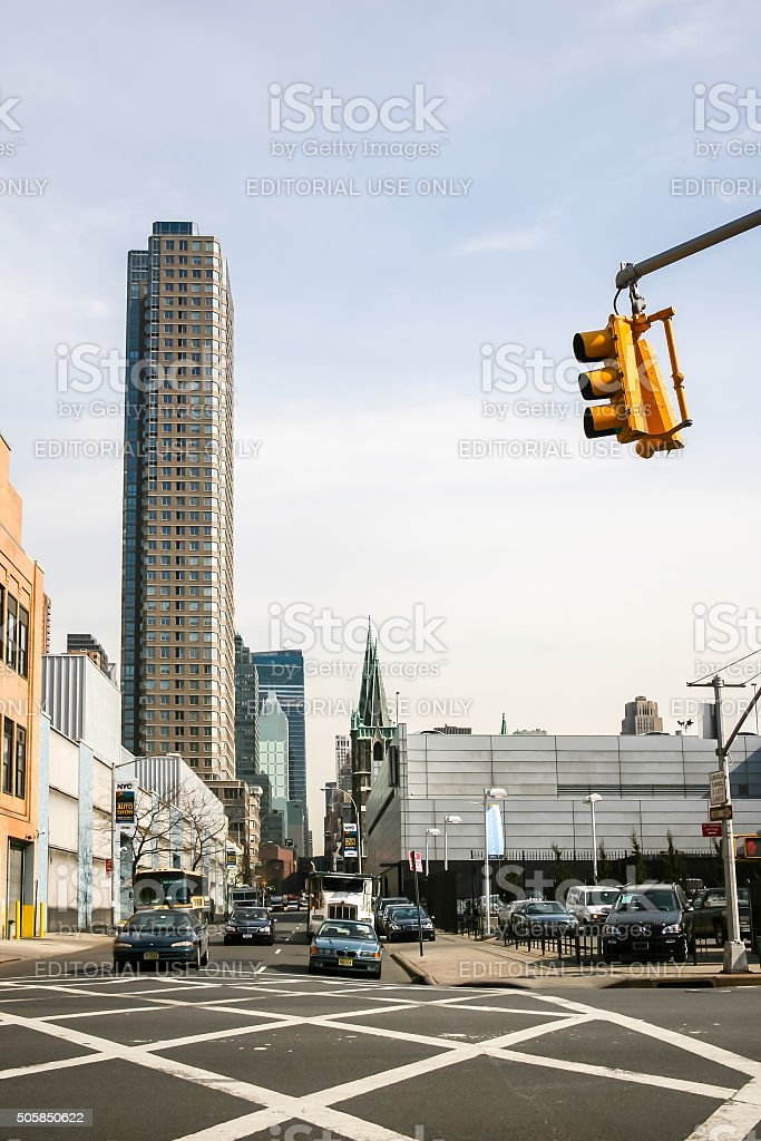 Urban view of Manhattan stock photo