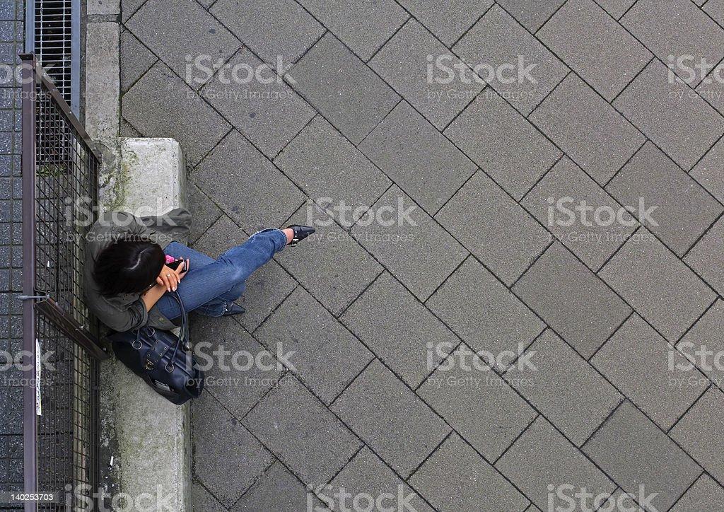 Urban waiting stock photo
