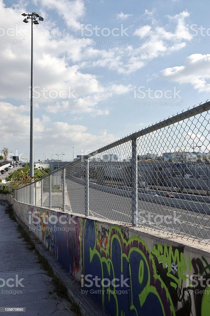 urban walkway stock photo