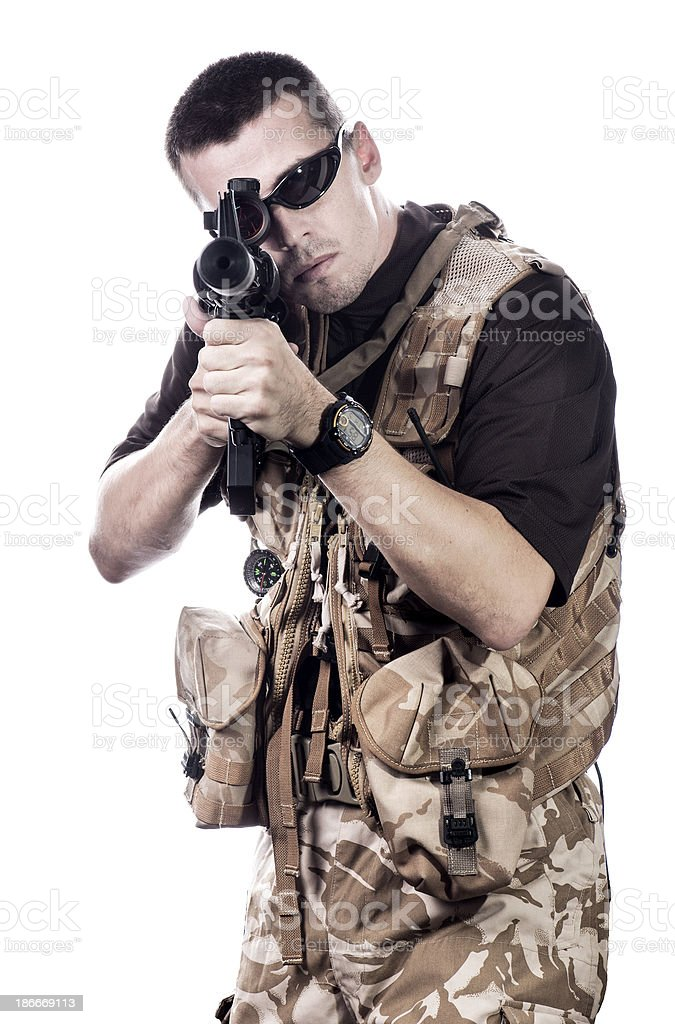 Urban warfare stock photo