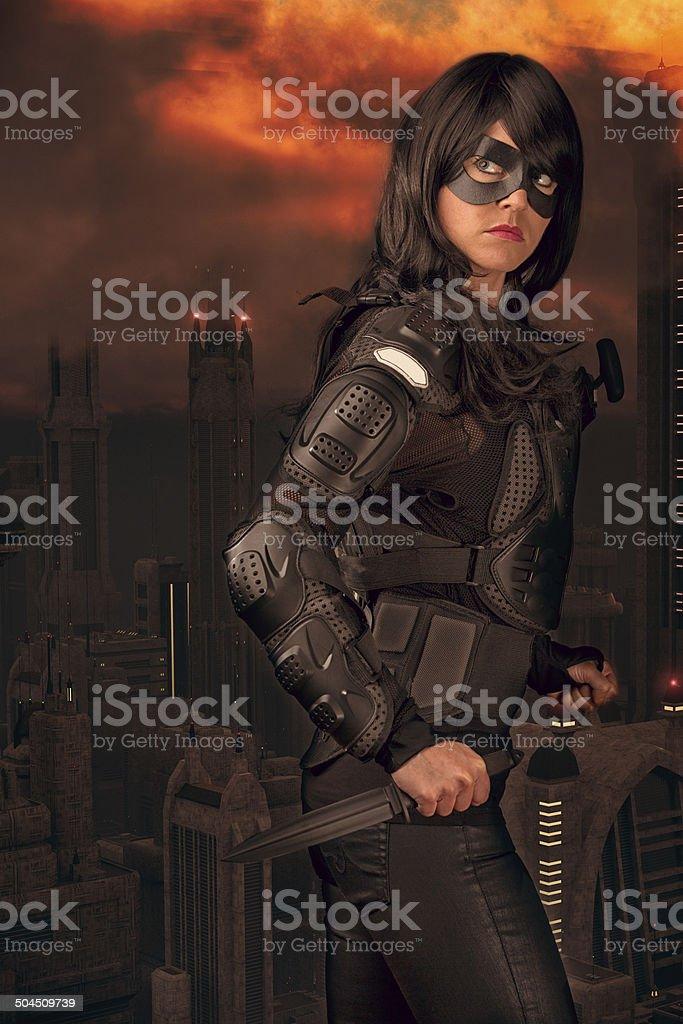 Urban Warrior stock photo