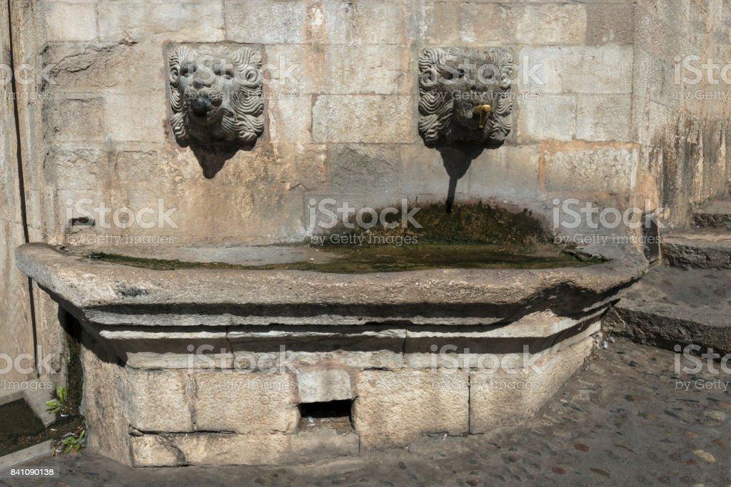 Urban water fountain stock photo