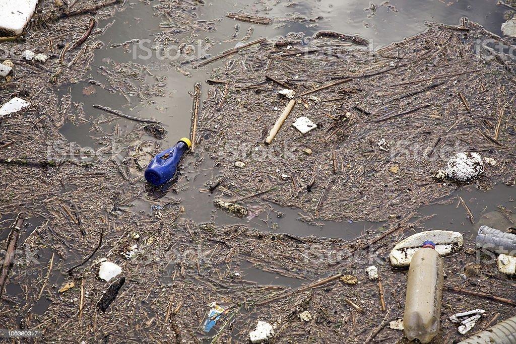 contaminacion agua urbana royalty-free stock photo