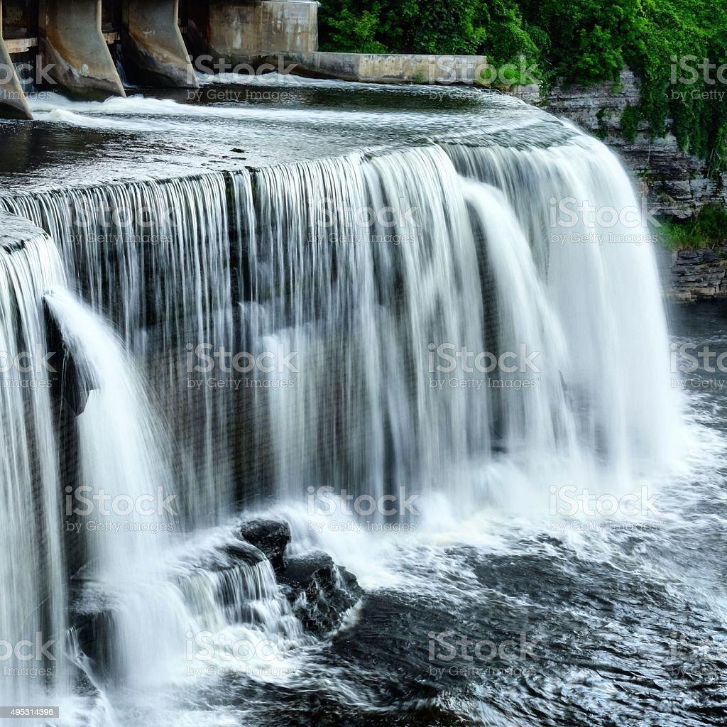 Urban Waterfall stock photo