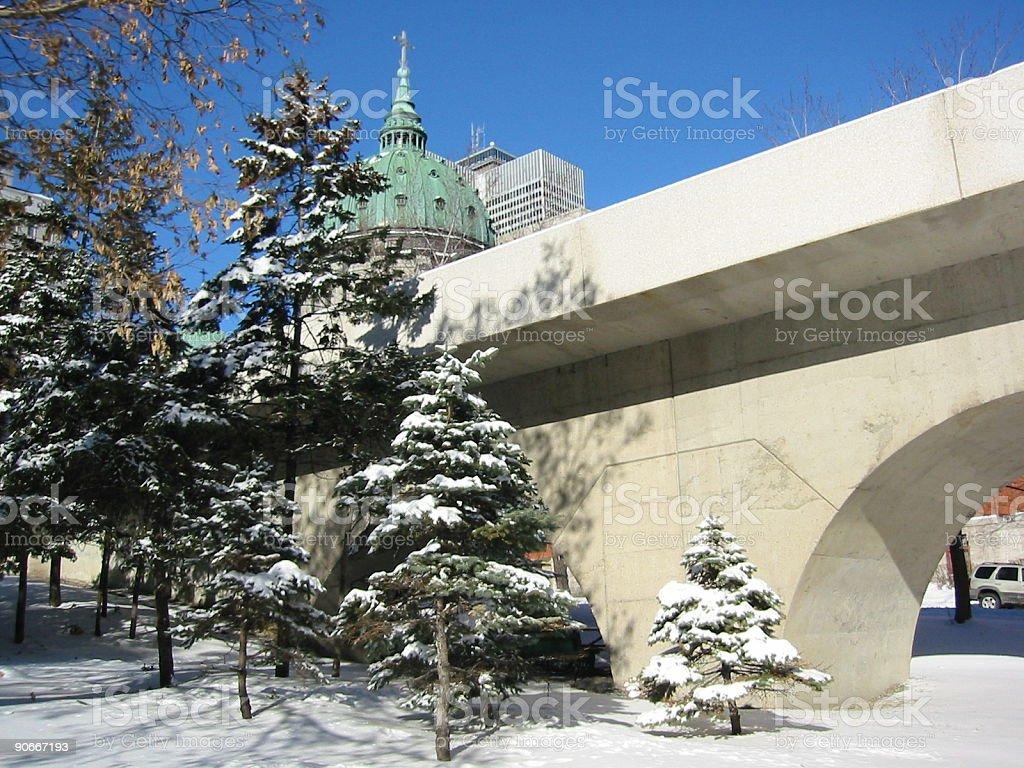Urban winter royalty-free stock photo