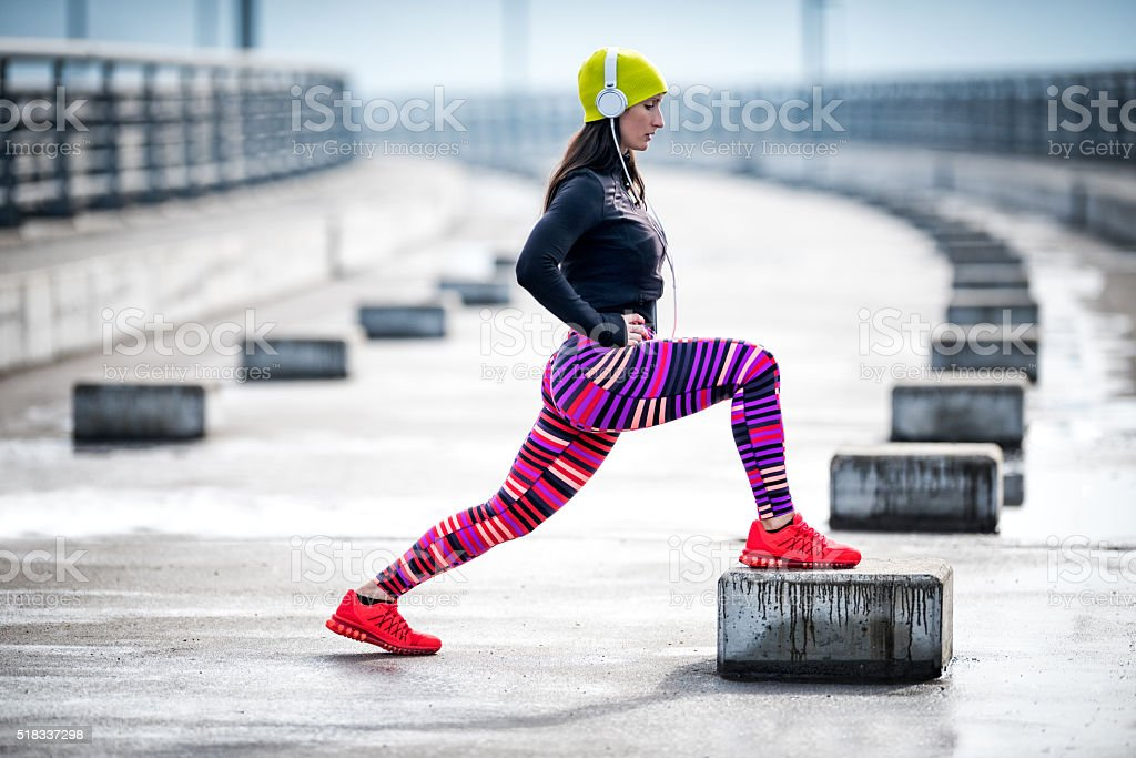 Urban workout stock photo