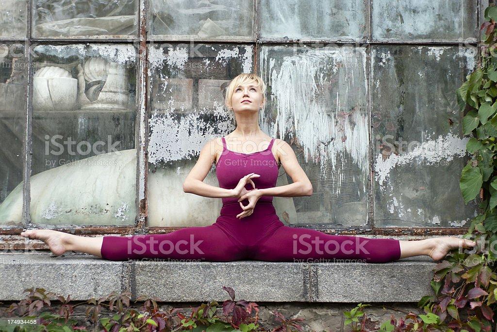 Urban Yoga royalty-free stock photo