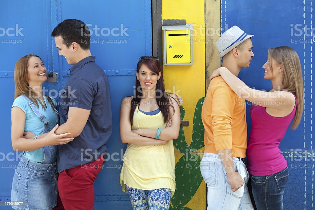 Urban young people royalty-free stock photo