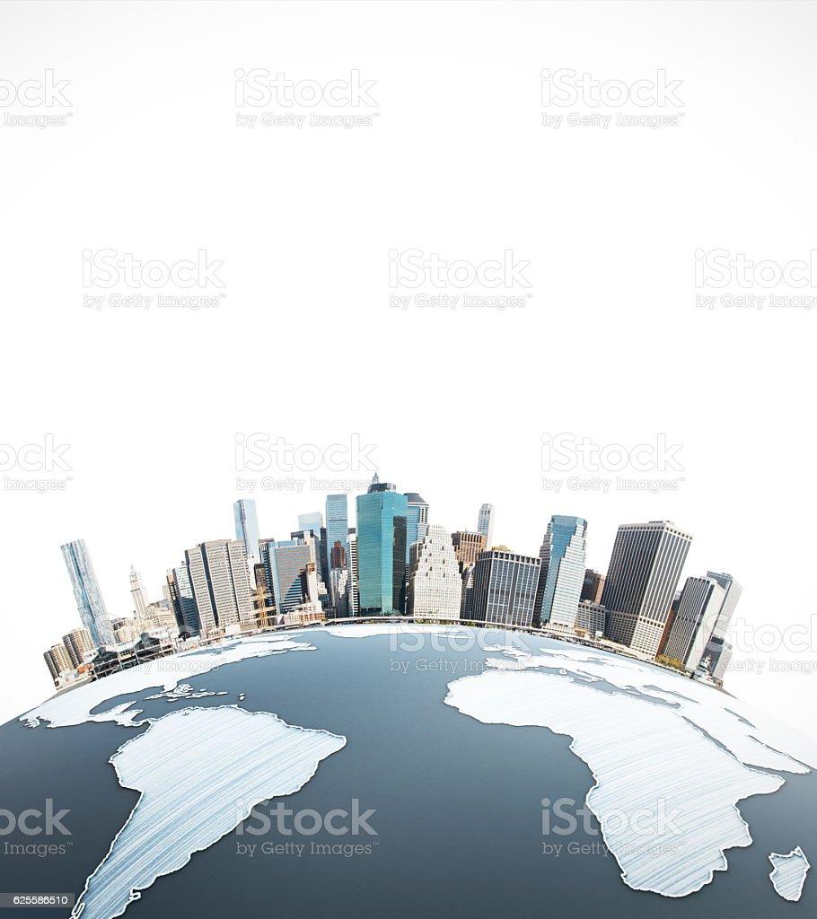Urbanization concept stock photo
