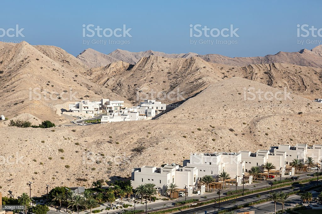 Urbanization in Muscat, Oman stock photo
