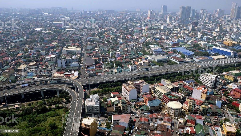 Urbanized Metro Manila stock photo