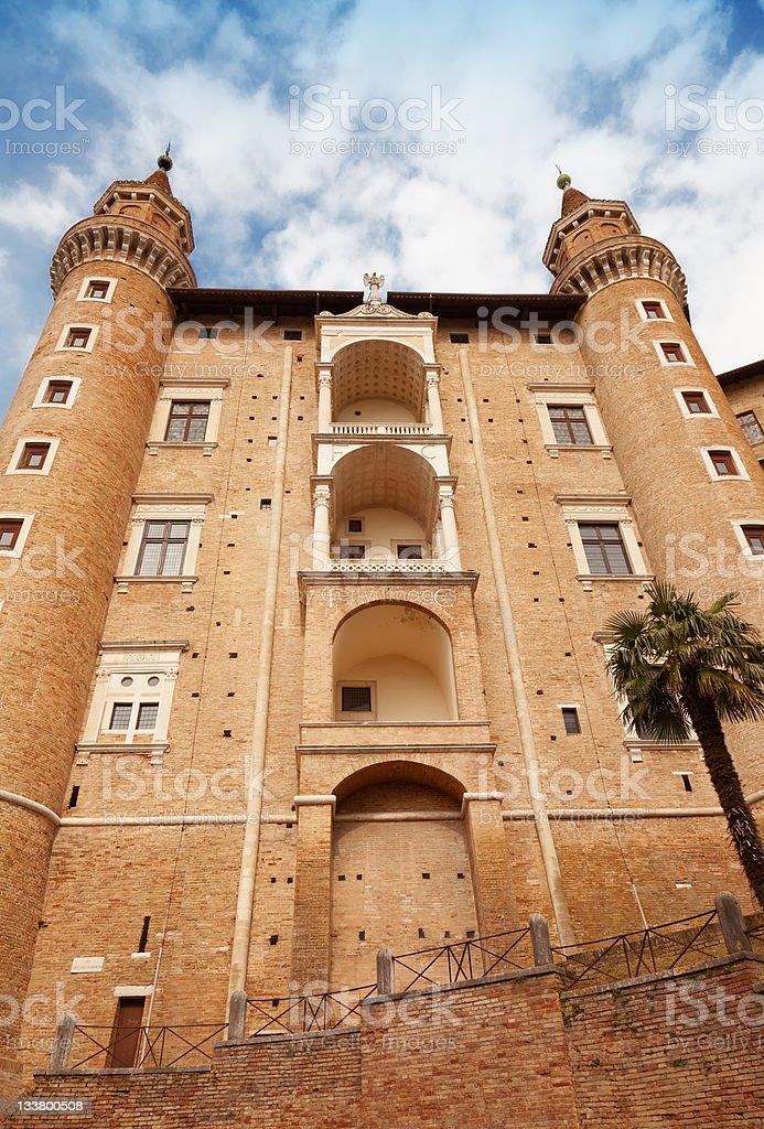 Urbino Palazzo Ducale stock photo
