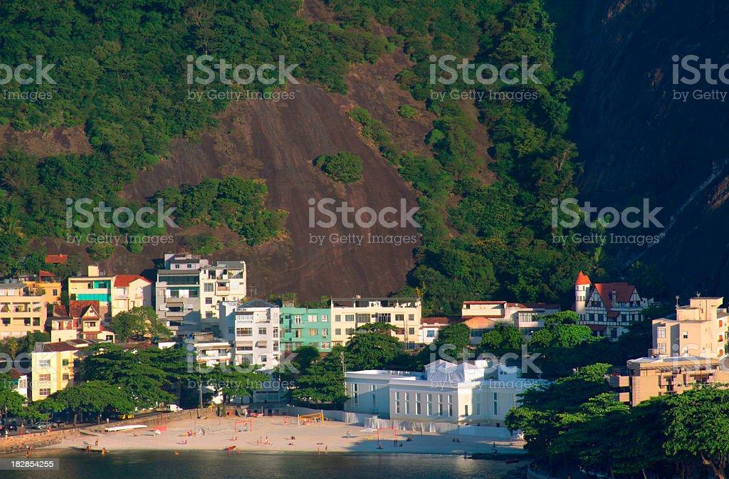 Urca beach in Rio de Janeiro royalty-free stock photo