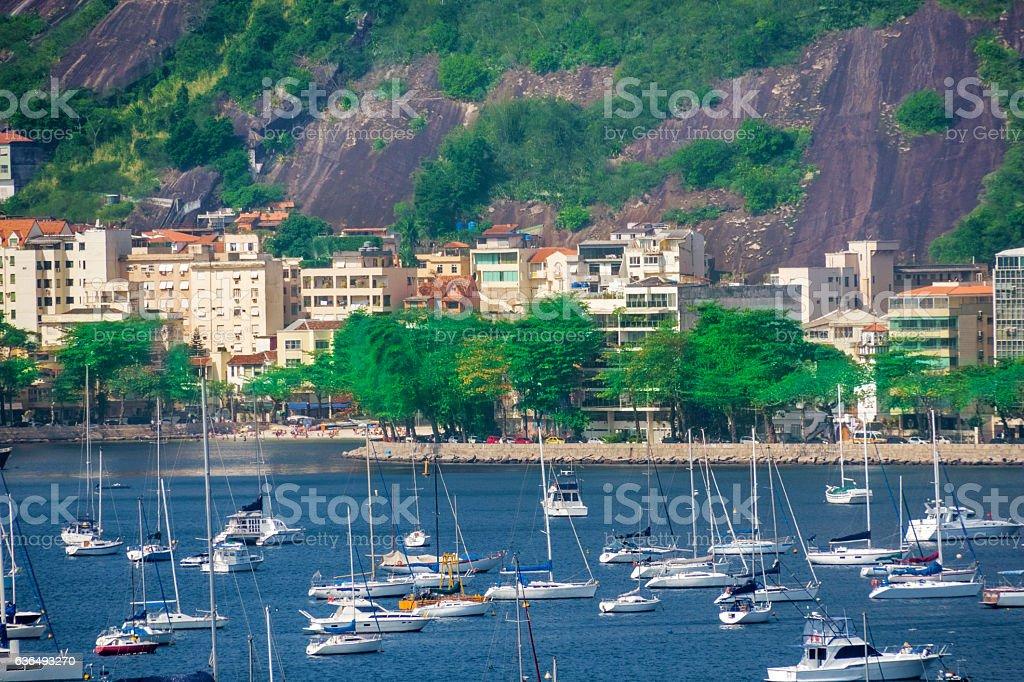 Urca district in Rio de Janeiro stock photo