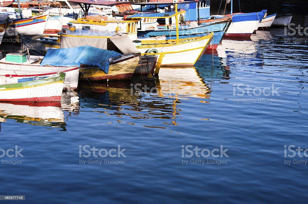 Urca Fishing Boats royalty-free stock photo