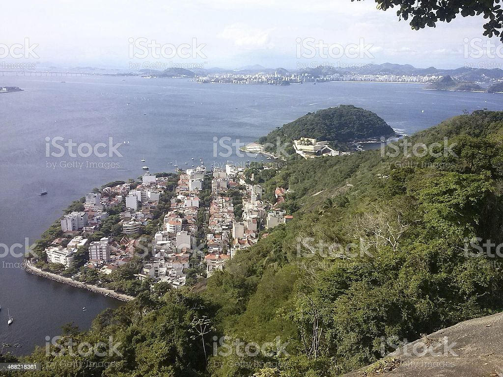 Urca, in Guanabara Bay, seen from the Sugarloaf royalty-free stock photo