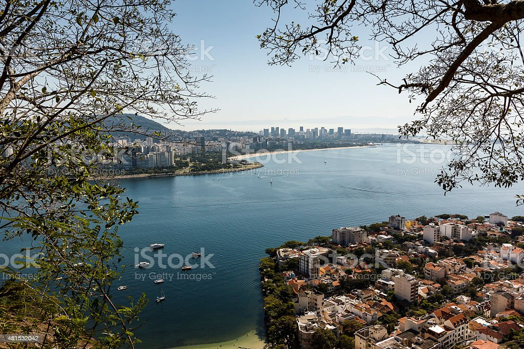 Urca Neighborhood in Rio de Janeiro, Brazil stock photo