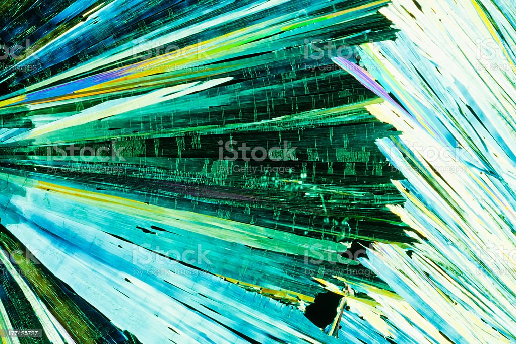 Urea or carbamide crystals in polarized light royalty-free stock photo