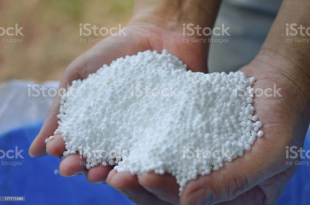 Urea,nitrogen chemical fertilizer royalty-free stock photo