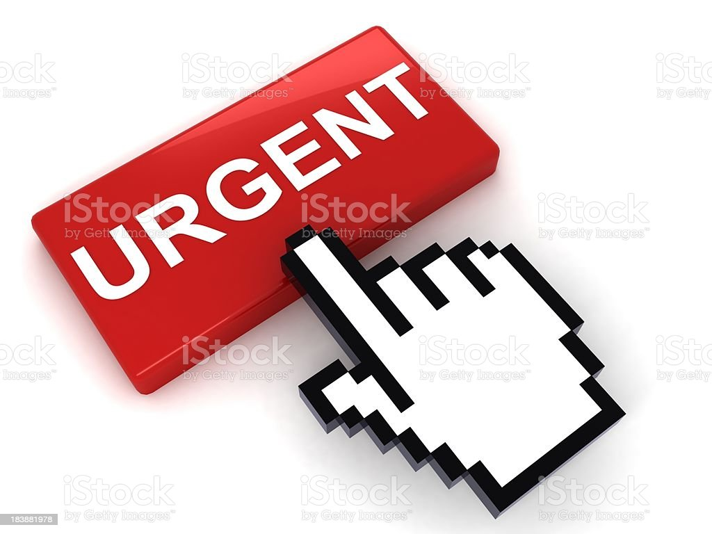Urgent Button royalty-free stock photo