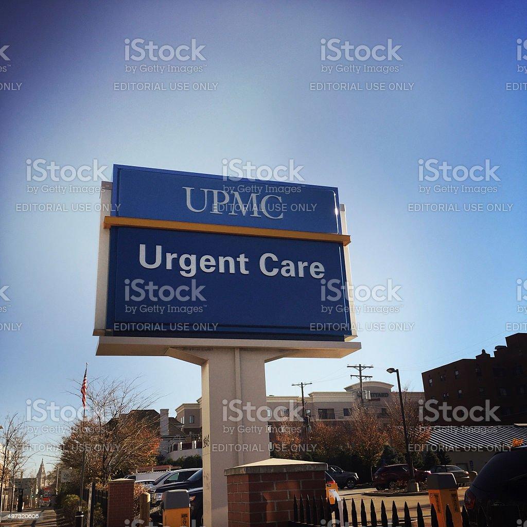 UPMC Urgent Care in Pittsburgh stock photo