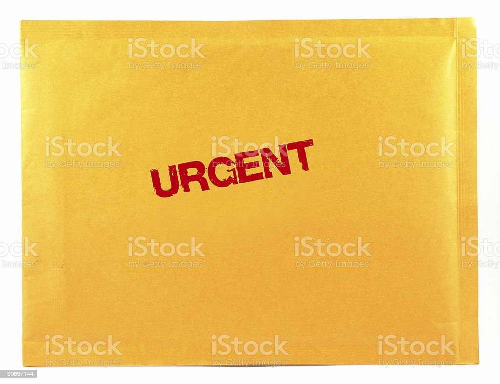 urgent mail royalty-free stock photo