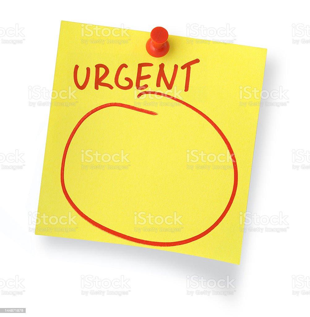 urgent note stock photo