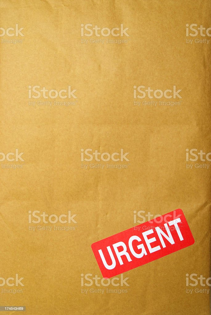 Urgent Parcel royalty-free stock photo