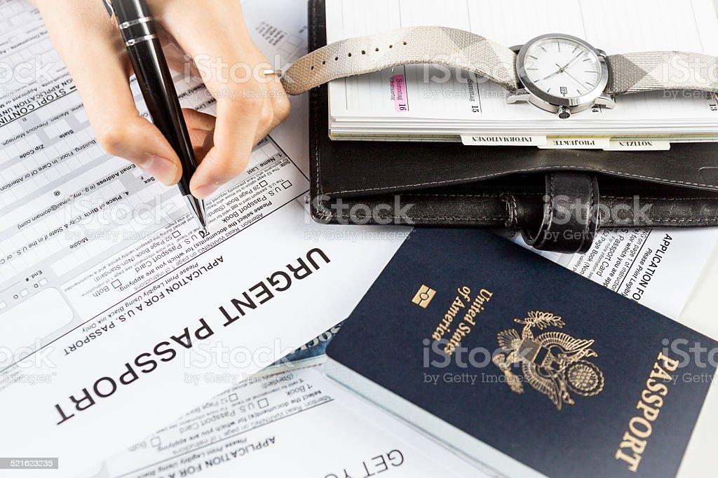 Urgent passport stock photo